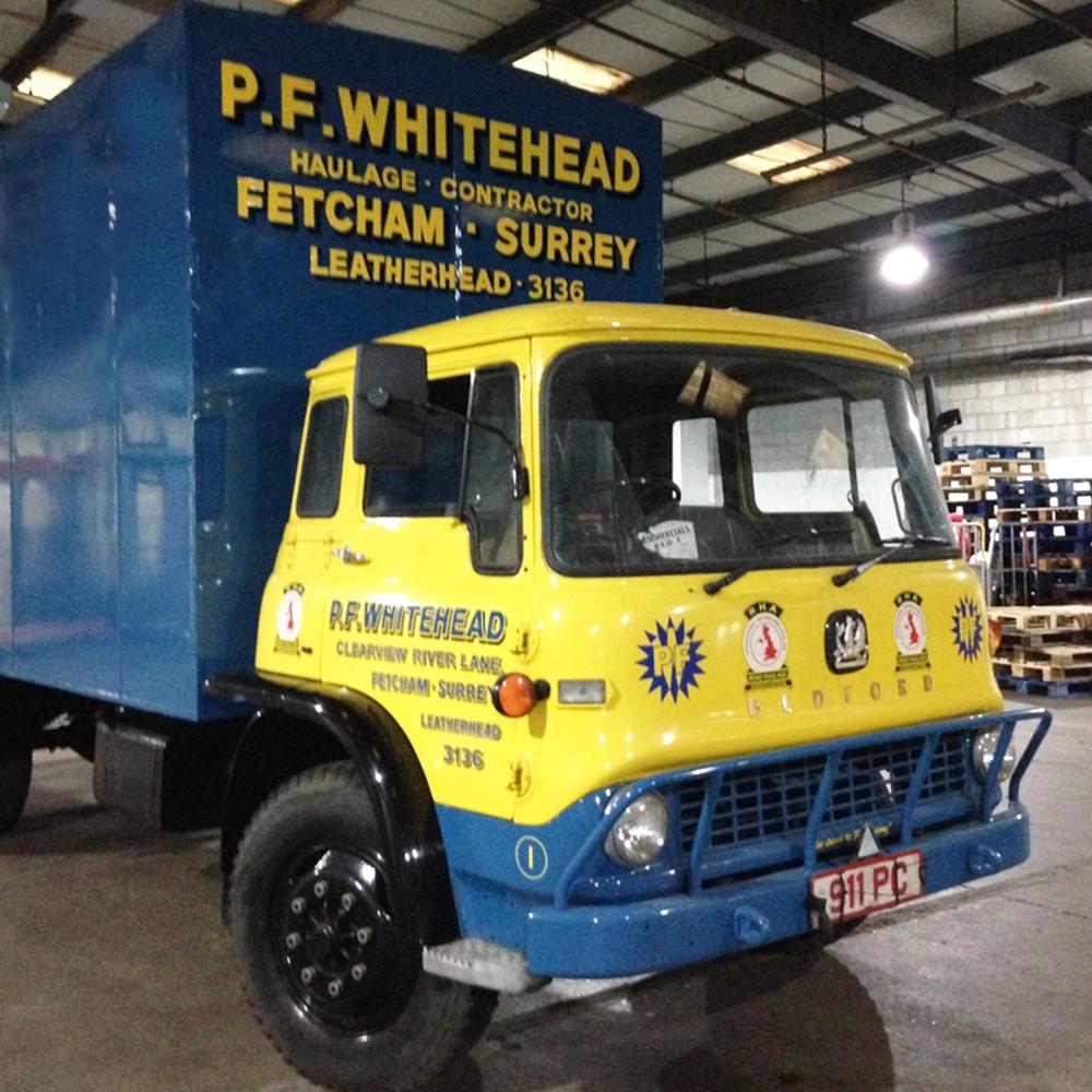 PF Whitehead Logistics Truck as seen in Disney's Cruella